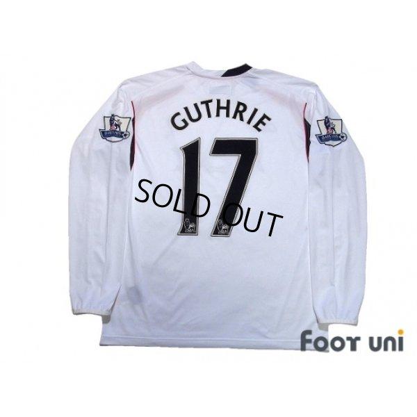 Photo2: Bolton Wanderers 2007-2008 Home Long Sleeve Shirt #17 Danny Guthrie BARCLAYS PREMIER LEAGUE Patch/Badge
