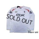 Bolton Wanderers 2007-2008 Home Long Sleeve Shirt #17 Danny Guthrie BARCLAYS PREMIER LEAGUE Patch/Badge