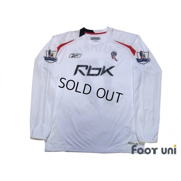 Photo1: Bolton Wanderers 2007-2008 Home Long Sleeve Shirt #17 Danny Guthrie BARCLAYS PREMIER LEAGUE Patch/Badge