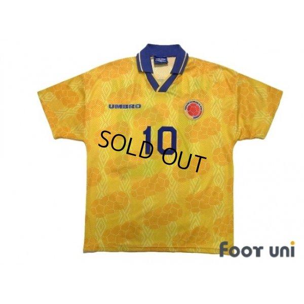 Photo1: Colombia 1994 Home Shirt #10 Valderrama