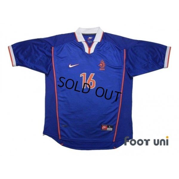 Photo1: Netherlands 1998 Away Shirt #16 Davids