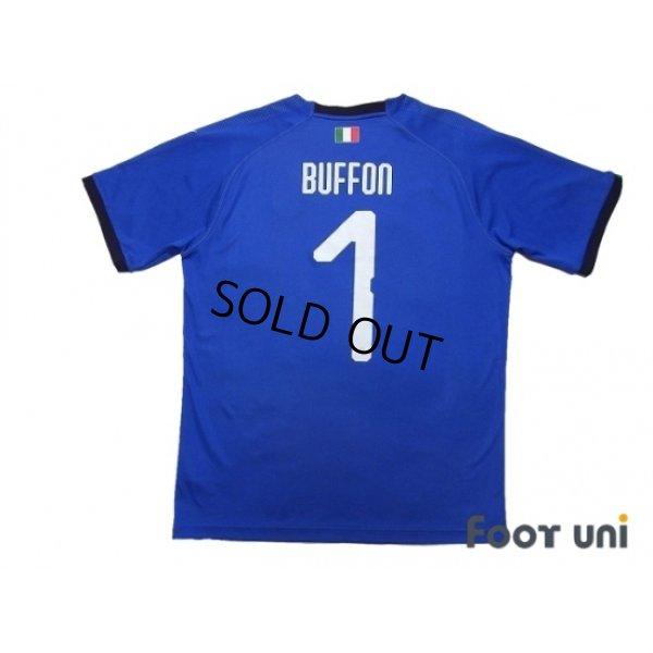 Photo2: Italy 2018 Home Shirt #1 Buffon