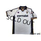 Parma 2003-2004 Away Shirt #7 Hidetoshi Nakata 90th Patch/Badge