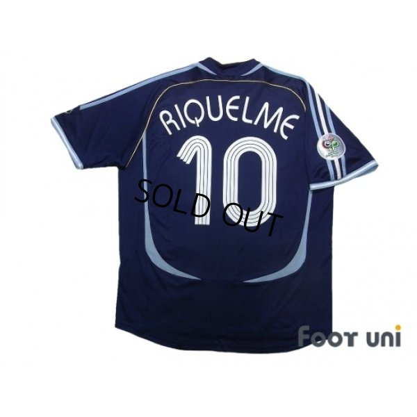 Photo2: Argentina 2006 Away Shirt #10 Riquelme FIFA World Cup Germany 2006 Patch/Badge