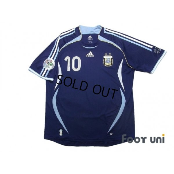 Photo1: Argentina 2006 Away Shirt #10 Riquelme FIFA World Cup Germany 2006 Patch/Badge