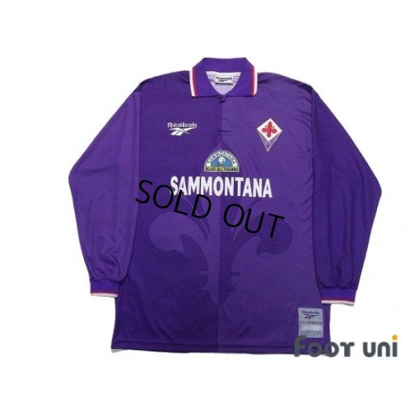 Photo1: Fiorentina 1995-1996 Home Long Sleeve Shirt #9 Batistuta