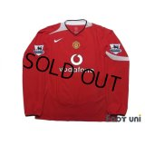 Manchester United 2004-2006 Home Long Sleeve Shirt #8 Rooney BARCLAYS PREMIERSHIP Patch/Badge