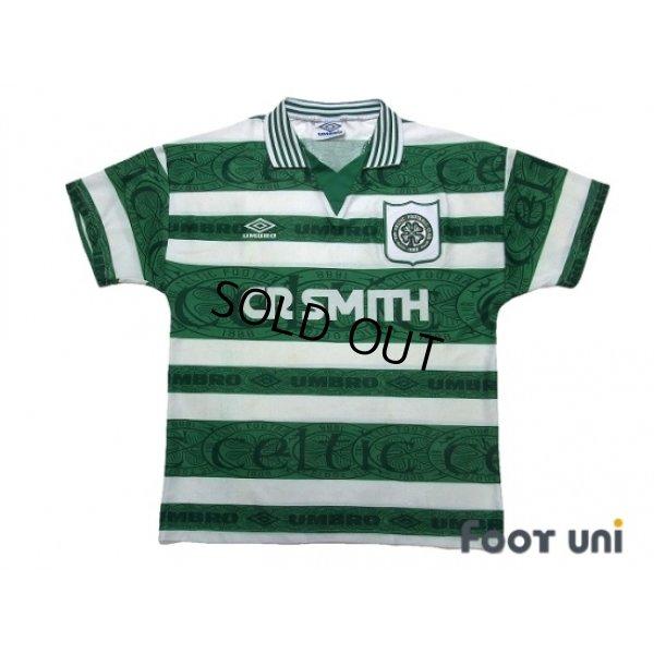 Photo1: Celtic 1995-1997 Home Shirt