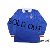 Italy 1995 Home Player Long Sleeve Shirt #9