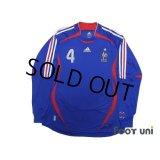 France 2006 Home Long Sleeve Shirt #4 Vieira