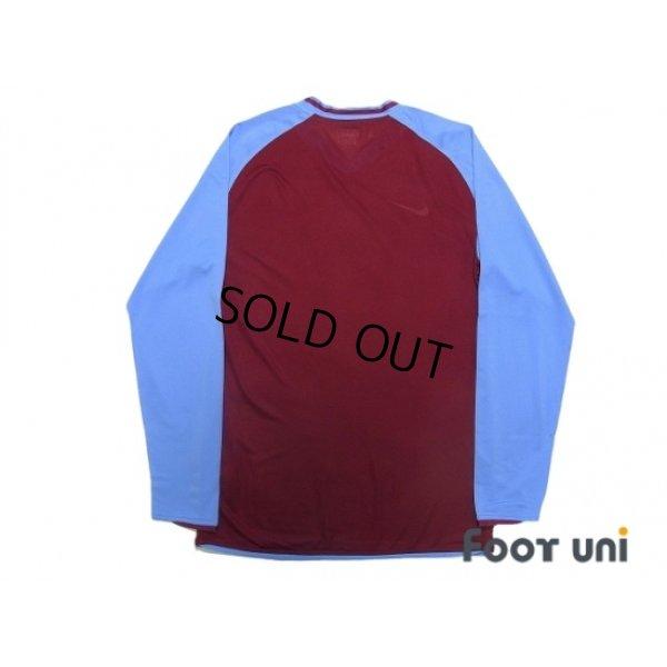 Photo2: Aston Villa 2008-2009 Home Authentic Long Sleeve Shirt