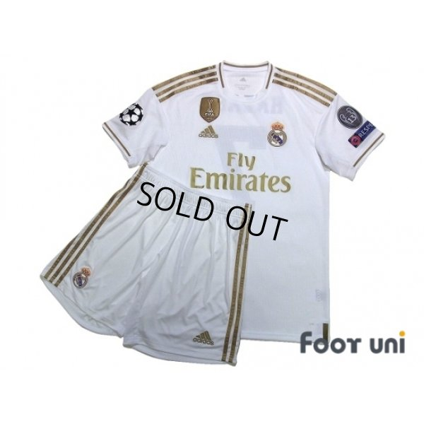 Photo1: Real Madrid 2019-2020 Home Shirts and shorts Set #7 Hazard Champions League Patch/Badge