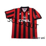 AC Milan 1996-1997 Home Shirt #9 George Weah Scudetto Patch/Badge