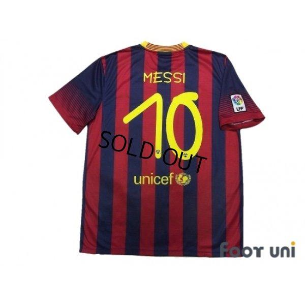 Photo2: FC Barcelona 2013-2014 Home Shirt #10 Messi LFP Patch/Badge