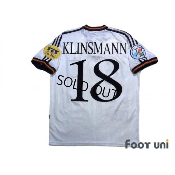 Photo2: Germany Euro 1996 Home Shirt #18 Klinsmann UEFA Euro 1996 Patch/Badge UEFA Fair Play Patch/Badge