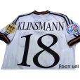 Photo4: Germany Euro 1996 Home Shirt #18 Klinsmann UEFA Euro 1996 Patch/Badge UEFA Fair Play Patch/Badge