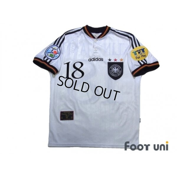 Photo1: Germany Euro 1996 Home Shirt #18 Klinsmann UEFA Euro 1996 Patch/Badge UEFA Fair Play Patch/Badge