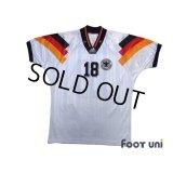 Germany Euro 1992 Home Shirt #18 Klinsmann