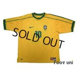 Brazil 1998 Home Shirt #10 Rivaldo