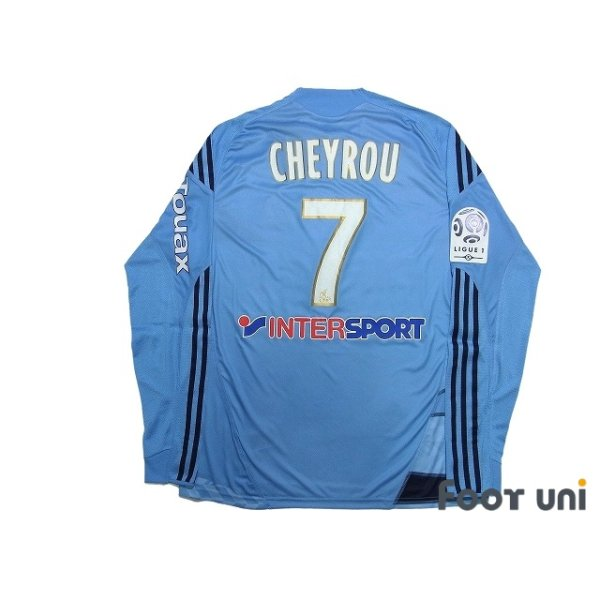 Photo2: Olympique Marseille 2009-2010 Away Player Long Sleeve Shirt #7 Cheyrou Ligue 1 Patch/Badge w/tags