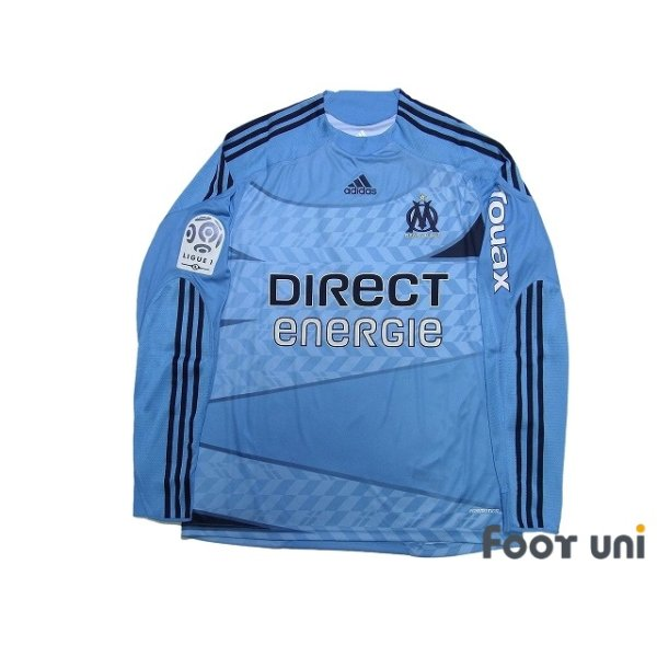 Photo1: Olympique Marseille 2009-2010 Away Player Long Sleeve Shirt #7 Cheyrou Ligue 1 Patch/Badge w/tags