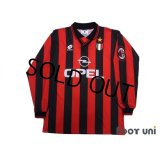 AC Milan 1996-1997 Home Long Sleeve Shirt #18 Baggio Scudetto Patch/Badge
