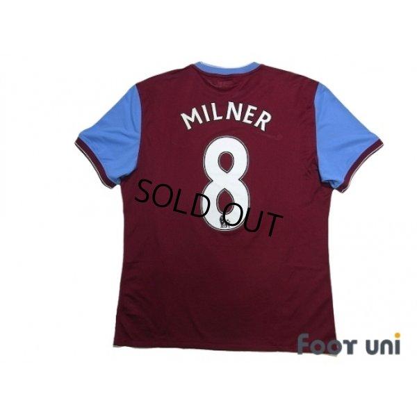 Photo2: Aston Villa 2009-2010 Home Authentic Shirt #8 James Milner