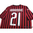Photo4: AC Milan 2019-2020 Home Shirt #21 Ibrahimović (4)