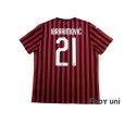 Photo2: AC Milan 2019-2020 Home Shirt #21 Ibrahimović (2)