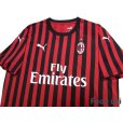 Photo3: AC Milan 2019-2020 Home Shirt #21 Ibrahimović (3)