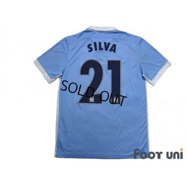 Photo2: Manchester City 2015-2016 Home Shirt #21 David Silva