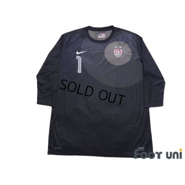 Photo1: USA Women's 2008 GK Three quarter sleeve Shirt #1 Hope Solo w/tags