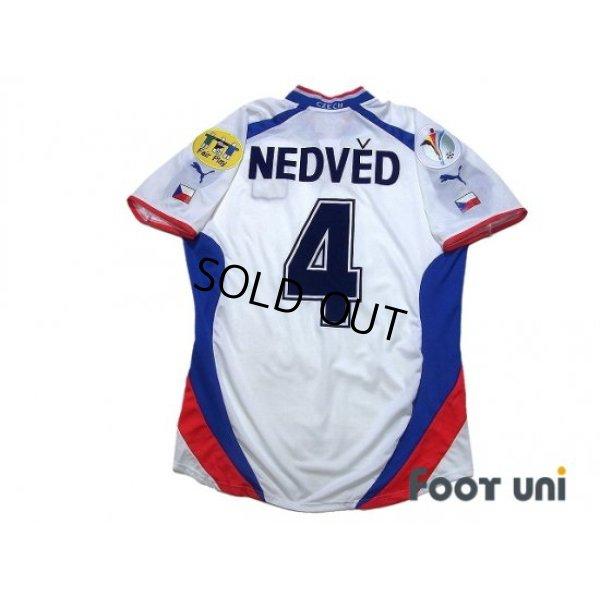 Photo2: Czech Republic Euro 2000 Away Shirt #4 Nedved UEFA Euro 2000 Patch/Badge UEFA Fair Play Patch/Badge