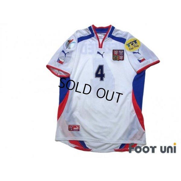 Photo1: Czech Republic Euro 2000 Away Shirt #4 Nedved UEFA Euro 2000 Patch/Badge UEFA Fair Play Patch/Badge