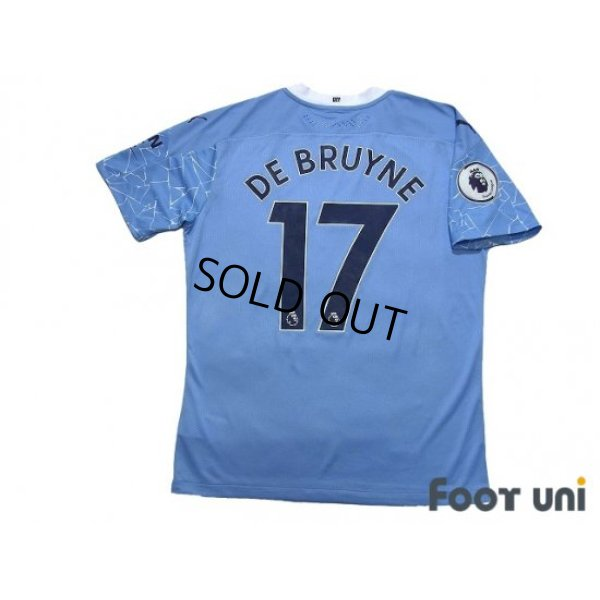 Photo2: Manchester City 2020-2021 Home Authentic Shirt and Shorts Set #17 De Bruyne