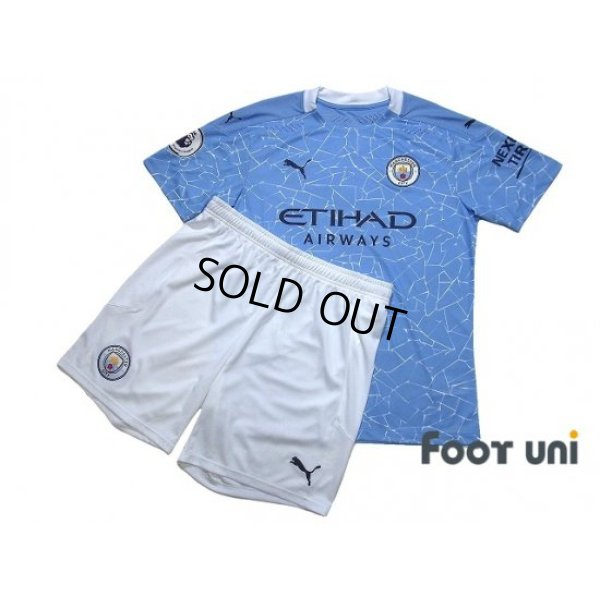 Photo1: Manchester City 2020-2021 Home Authentic Shirt and Shorts Set #17 De Bruyne