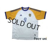 Sweden 2002 Away Shirt #9 Ljungberg