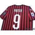 Photo4: AC Milan 2019-2020 Home Shirt #9 Krzysztof Piatek w/tags