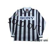 Juventus 1996-1997 Home Long Sleeve Shirt #10 Del Piero Lega Calcio Patch/Badge