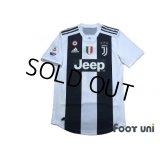 Juventus 2018-2019 Home Authentic Shirt #7 Ronaldo