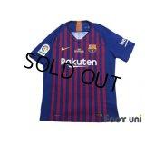 FC Barcelona 2018-2019 Home Authentic Shirt #8 Andres Iniesta Last match print La Liga Patch/Badge