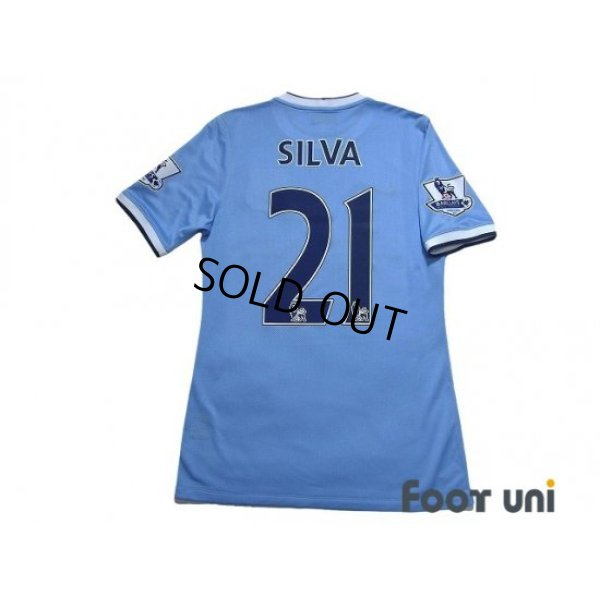 Photo2: Manchester City 2013-2014 Home Authentic Shirt #21 David Silva BARCLAYS ASIA TROPHY HONG KONG 2013 Patch/Badge