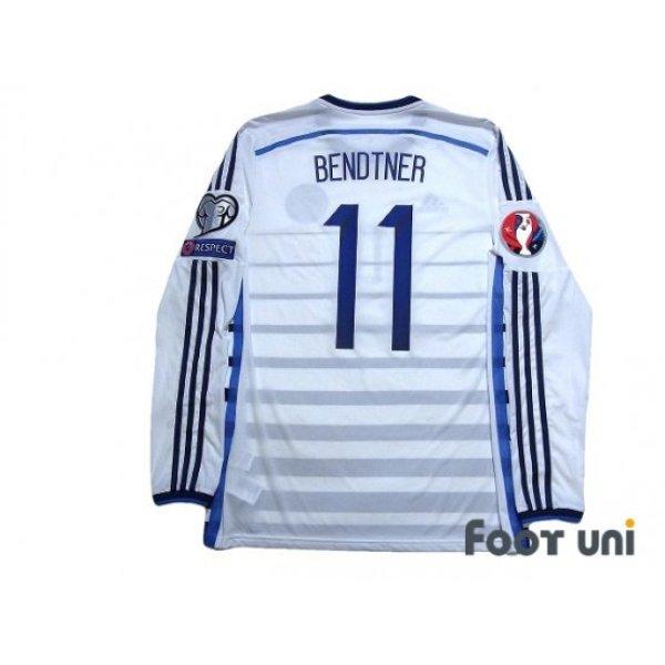 Photo2: Denmark 2014 Away Authentic Long Sleeve Shirt #11 Bendtner