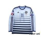 Denmark 2014 Away Authentic Long Sleeve Shirt #11 Bendtner
