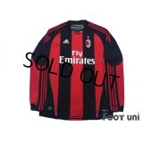 AC Milan 2010-2011 Home Long Sleeve Shirt