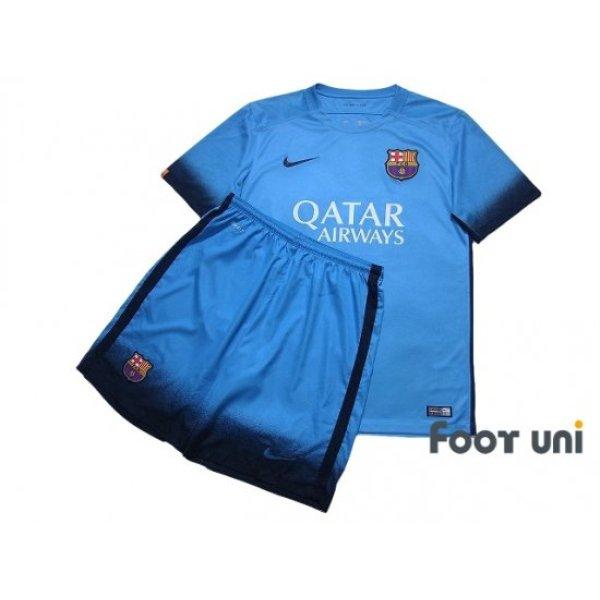 Photo1: FC Barcelona 2015-2016 3rd Shirt and Shorts Set