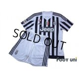 Juventus 2015-2016 Home Shirts and shorts Set #8 Marchisio Scudetto Patch/Badge