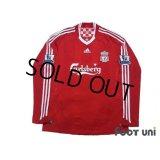 Liverpool 2008-2010 Home Long Sleeve Shirt #8 Gerrard BARCLAYS PREMIER LEAGUE Patch/Badge