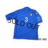 Italy 2002 Home Shirt #3 Maldini 2002 FIFA World Cup Korea Japan Patch/Badge