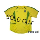 Brazil 2002 Home Authentic Shirt